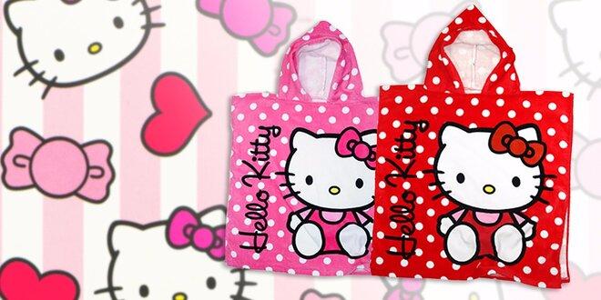 Červené či ružové pončo Hello Kitty
