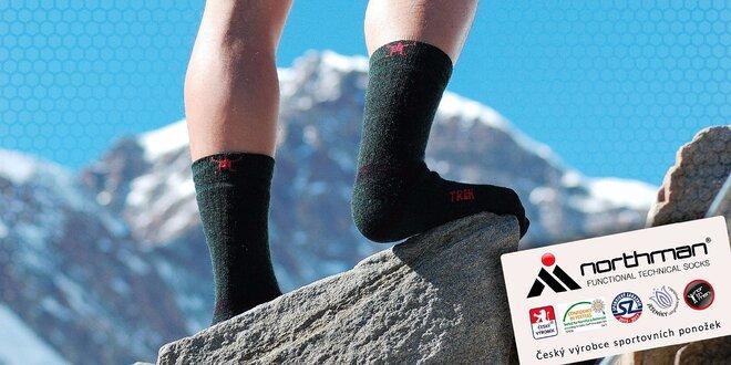 Funkčné outdoorové ponožky na celoročné využitie od českej firmy Northman