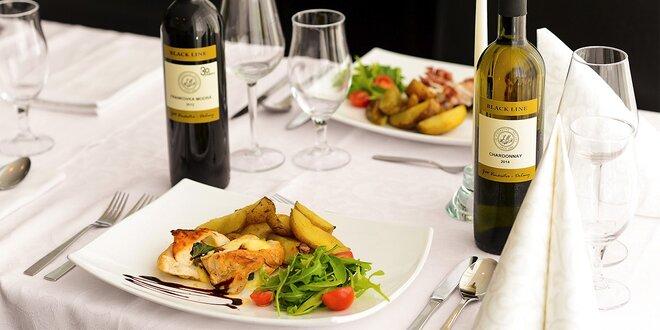 Vyskladaj si 3-chodové menu pre 2 osoby s vínom podľa vlastného výberu