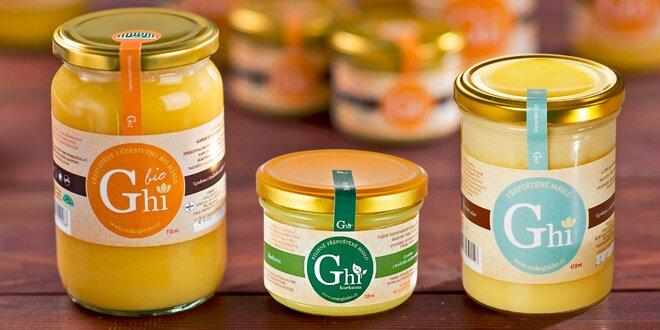 Prepustené maslo Ghí od českého výrobcu: natural alebo ochutené