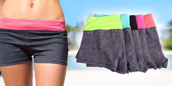 Elastické melírované fitness kraťasy