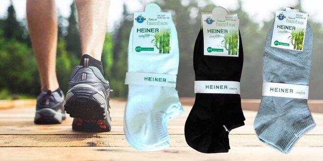 Pánske členkové bambusové ponožky – 6 párov