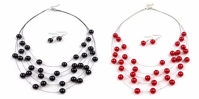 Perličkové náhrdelníky aj s perličkovými náušnicami