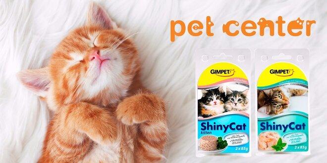 Mačacia mňamka: 4 konzervy superprémiového krmiva ShinyCat