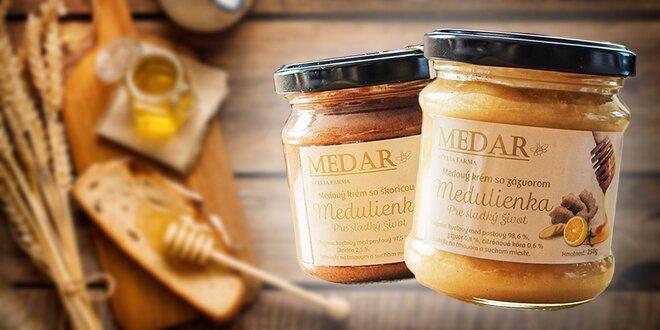 Krémy zo 100 % prírodného medu so škoricou alebo so zázvorom
