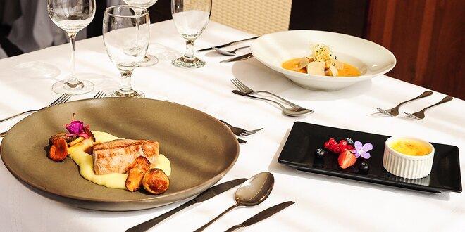 Letné trojchodové menu pre 1 alebo 2 osoby v Reštaurácii Hotela TATRA****
