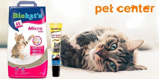 Podstielka pre mačky Biokat's Micro Fresh a ako darček tuniaková pasta