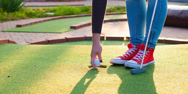 Adventure golf v Rajeckých Tepliciach - novovybudovaný areál s 18 jamkami