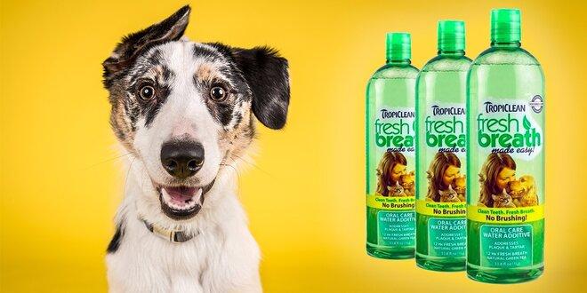 Prírodný prípravok do vody pre psíkov a mačičky. Ústna hygiena a svieži dych!
