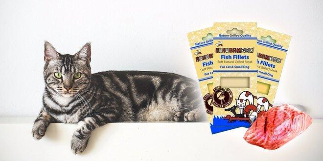 Grilovaný rybí steak pre mačky a malé psy - 3 balenia