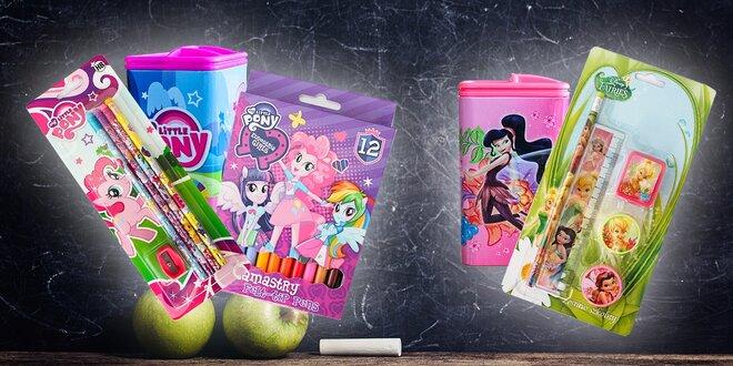 Veľká sada 60 ceruziek My Little Pony alebo školský set Fairies