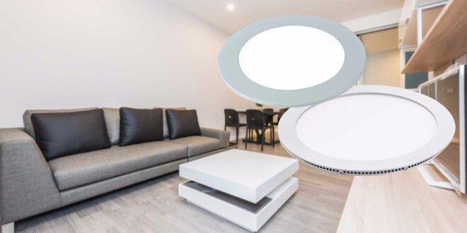 Interiérové zápustné LED svietidlá 6 W alebo 15 W