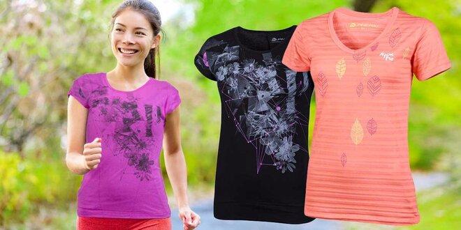 Dámske pohodlné tričká so športovým dizajnom Alpine pro