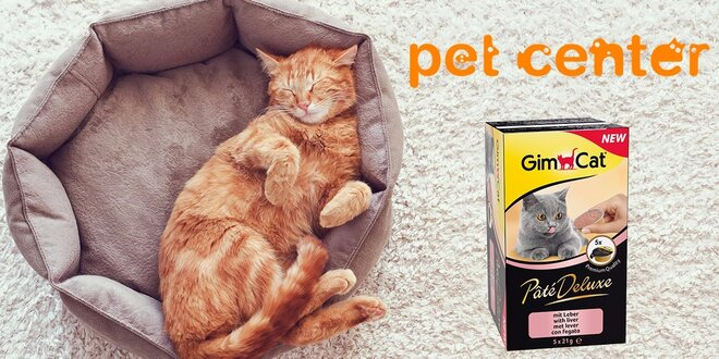 Pečeňová paštéta GimCat Paté Deluxe pre mačky - 2 balenia