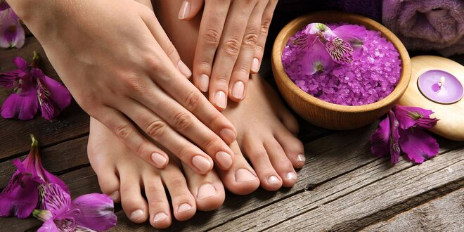 Prvotriedna manikúra a pedikúra, gel lak, gelové či akrylové nechty
