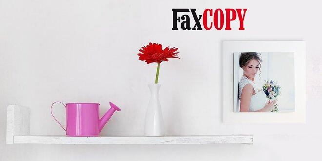Nástenná dekorácia s fotografiou na hliníkovej platni