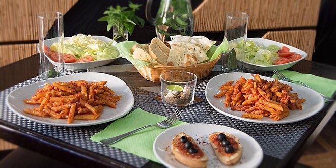 Menu v talianskom štýle pre dve osoby