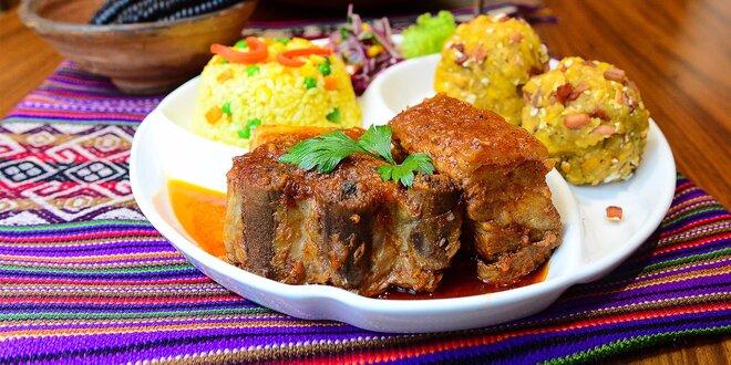 Fritada norteňa con tacachos - tradičné peruánske menu pre 2 osoby v Casa Inka