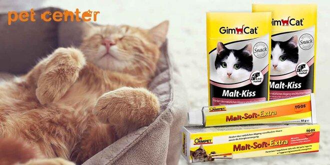 Balenie pasty GimCat Cat Malt Soft Extra + pusinky s maltózou zdarma