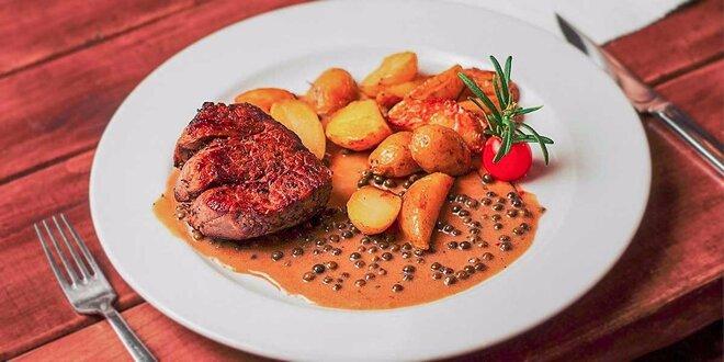 3 druhy hovädzích steakov v Modrej Hviezde. Gurmánsky zážitok pod hradbami!