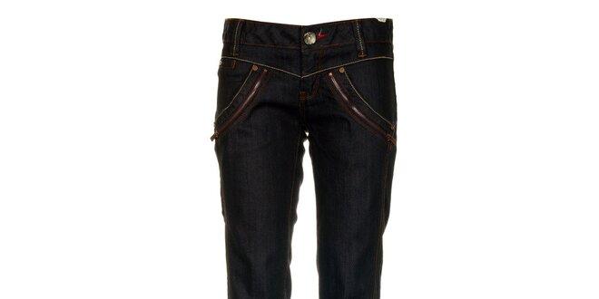 Dámske tmavo modré džínsy so zispami Timeout