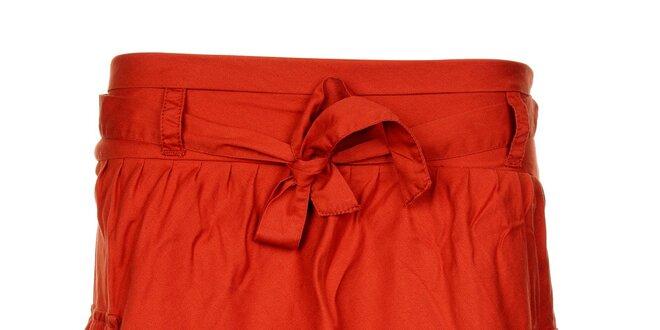 Dámska tehlovo červená sukňa Timeout s kapsami