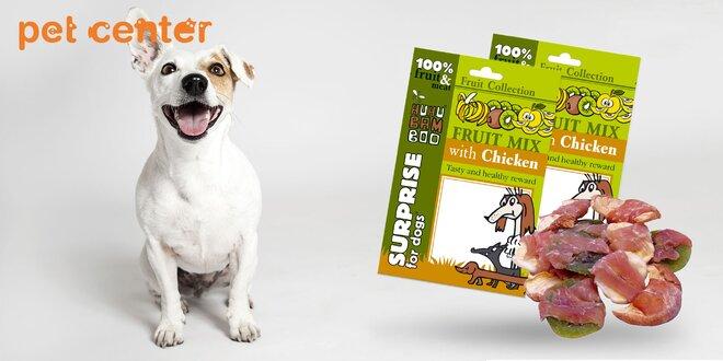 Balenie Huhubamboo pamlskov pre psy s príchuťou ovocia. 5 balení x 20 gramov!
