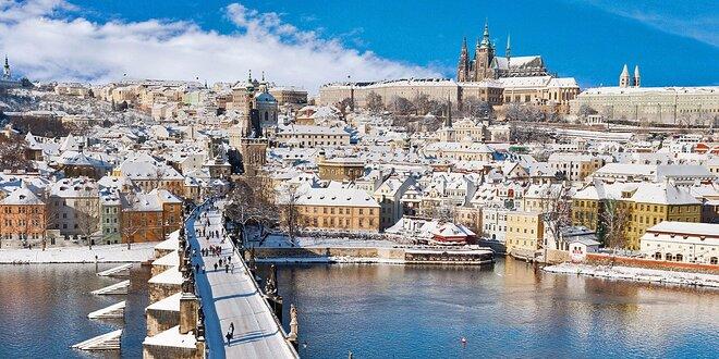 Magická zimná Praha s raňajkami v 3 * hoteli