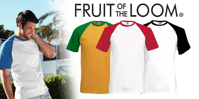 Pánske tričká Fruit of the Loom BASSEBALL