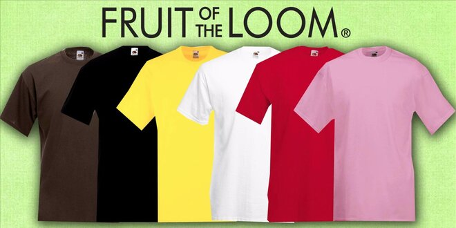 2 pánske tričká Fruit of the Loom VALUEWEIGHT