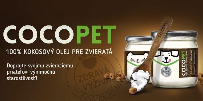 100% panenský kokosový olej pre zdravie zvieraťa