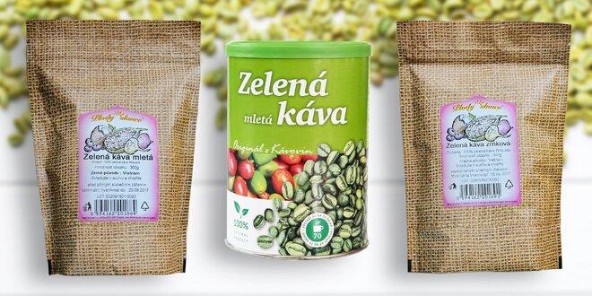 Zelená mletá káva 230 gramov