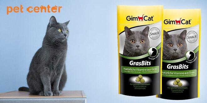 GIMCAT GRAS BITS tablety s mačacou trávou