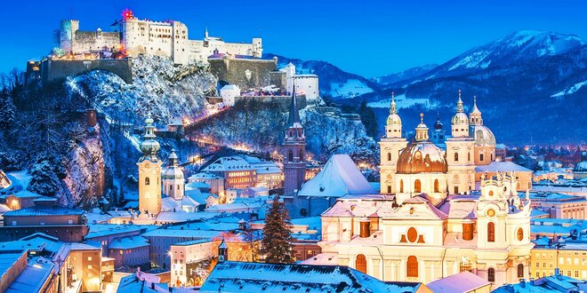 Silvester v Salzburgu aj s ubytovaním v hoteli a raňajkami