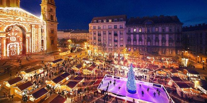 Historická Budapešť a návšteva tradičného vianočného mestečka