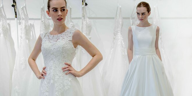 Zľava na požičanie svadobných šiat a kúpu exkluzívnych spoločenských šiat v AZ…