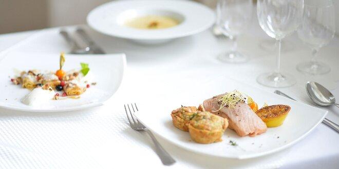 Gurmánske 3-chodové menu v luxusnej reštaurácii ****Hotela AGATKA Bratislava