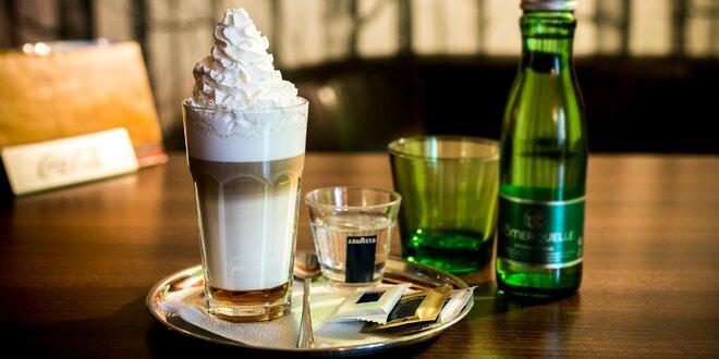 Café latte podľa výberu, Café latte Baileys alebo čokoládová káva v Unique café