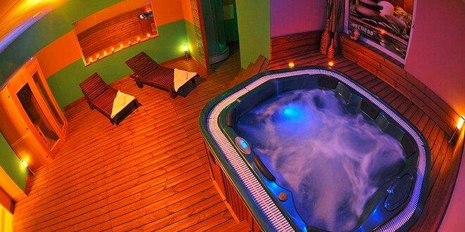 Privátny wellness relax pre dvoch! Sauna, jacuzzi, citronáda a ovocná misa