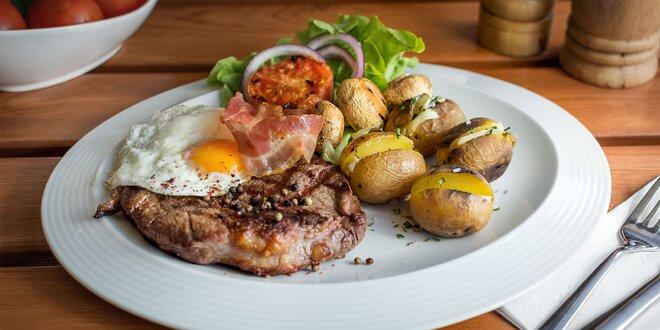 Grilovaný Rib Eye steak v grillbare Podlavice