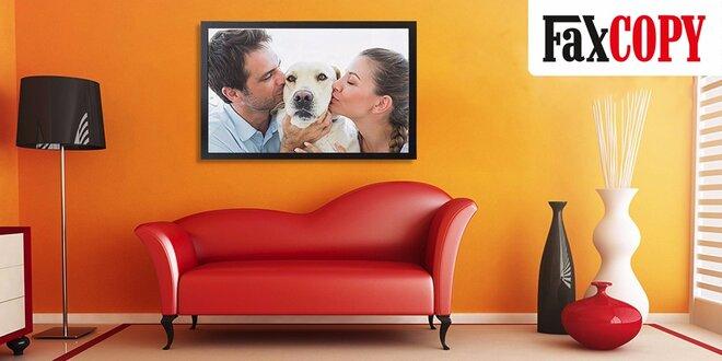 Obraz z vlastnej fotografie v drevenom ráme