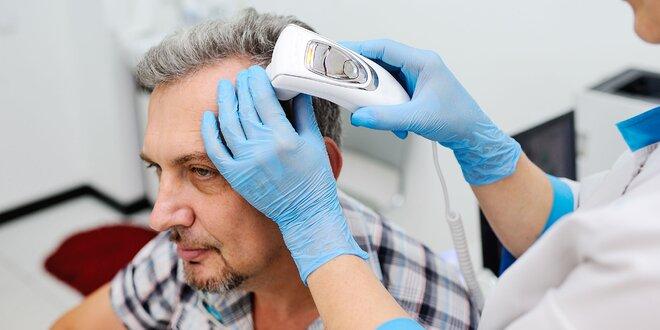 Analýza vlasovej pokožky s ayurvédskou masážou hlavy