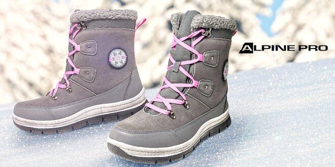 Šnúrovacie zimné topánky Alpine Pro