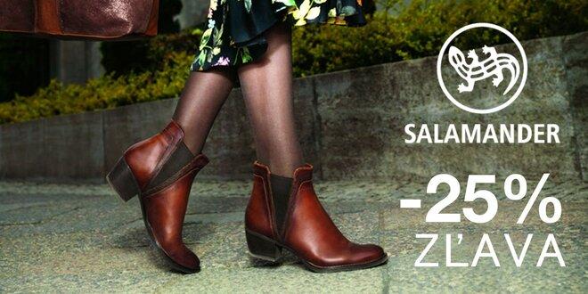 Zľava 25 % na dámsku i pánsku obuv Salamander