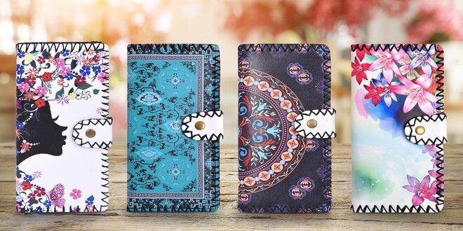 Podlhovasté dámske peňaženky s potlačou