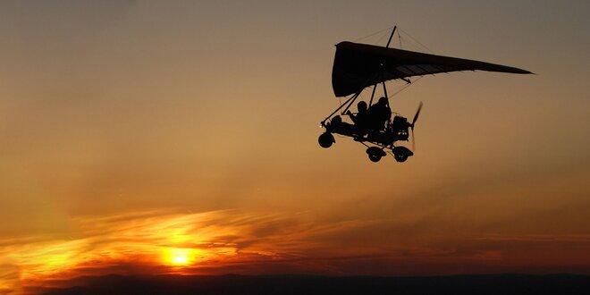 Tandemový let motorovým rogalom - super adrenalínový darček!