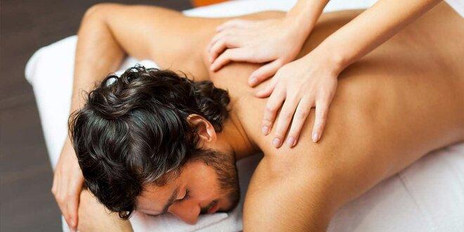 Reflexná masáž chodidiel, masáž chrbta a šije alebo lymfatická masáž