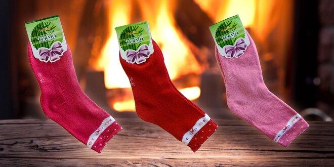 Dámske bavlnené termo ponožky: 6 párov
