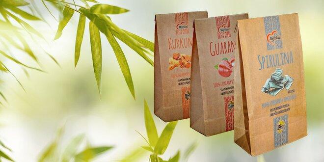 Vytvorte si svoj balíček z Kurkumy, Guarany a Spiruliny