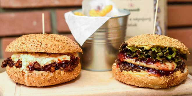 Ferdinand burger alebo Hermelín burger aj s hranolčekmi U Ferdinanda
